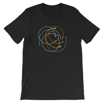 Modular Synth Patch Cable T-Shirt (Medium)