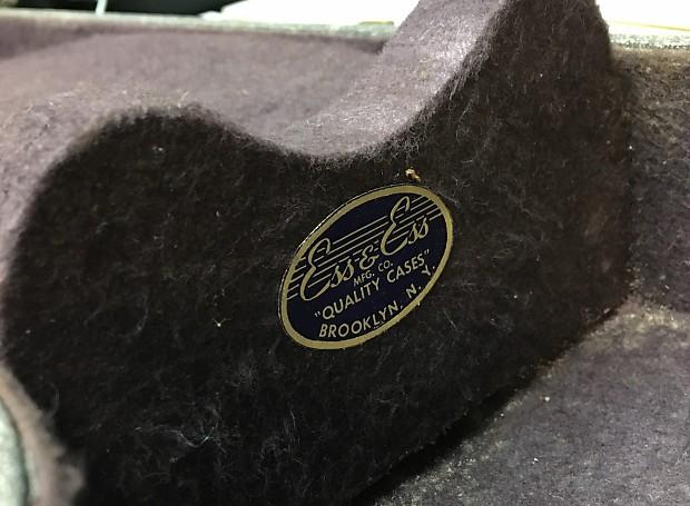 75c09f8882 1962 Gretsch Vintage Hardshell Guitar Case w/ Key Grey Black | Reverb