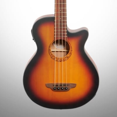 Luna Tribal 34-Inch Scale Acoustic-Electric Bass for sale