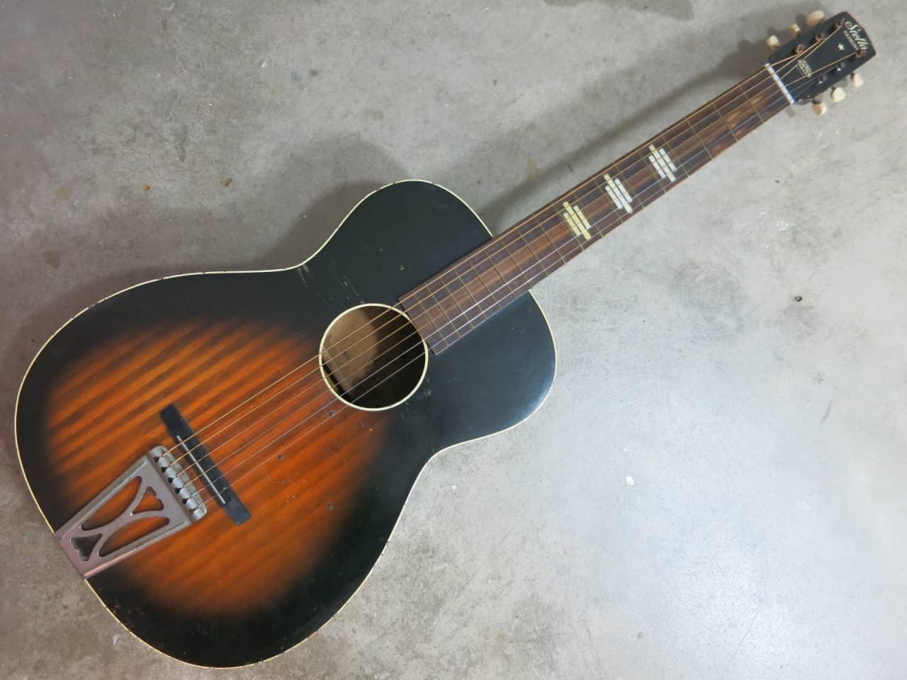 vintage 1960s harmony stella acoustic parlor guitar made in reverb. Black Bedroom Furniture Sets. Home Design Ideas