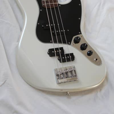 2013 Fender Blacktop Jazz Electric Bass 4 String - White Chrome Pearl Finish + Hard Case