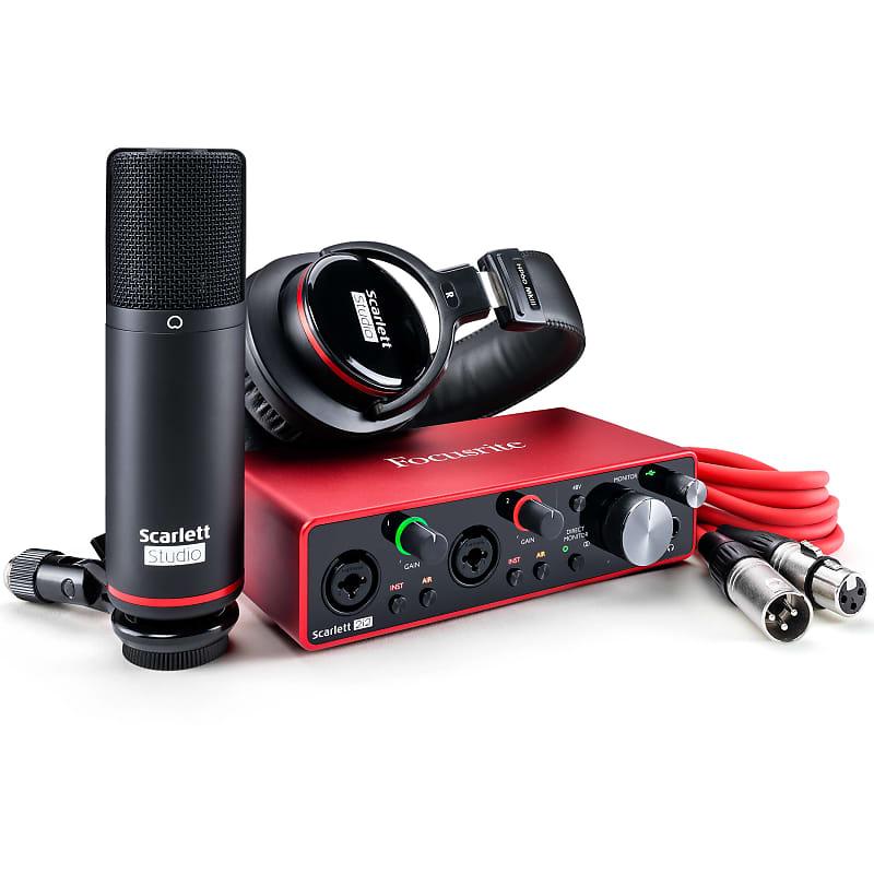 Focusrite Scarlett 2i2 Studio Pack (3rd Gen) USB Audio Recording Bundle