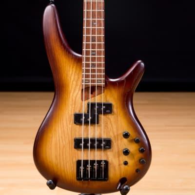 Ibanez SR650E Bass Guitar - Natural Browned Burst Flat SN 181210887