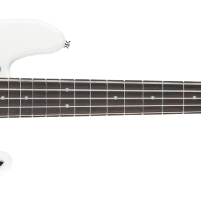 Fender Deluxe Active Jazz Bass V - Rosewood, Olympic White for sale