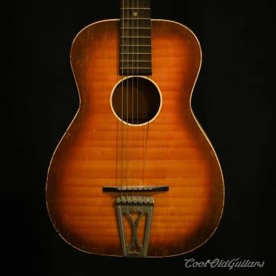 Vintage 1950s-60s Regal Sunburst Parlor Acoustic Guitar for sale