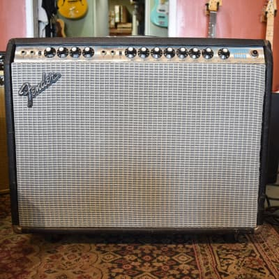"1973 Fender Vibrosonic Reverb 1x15"" 100 Watt Vintage Guitar Combo Amplifier"