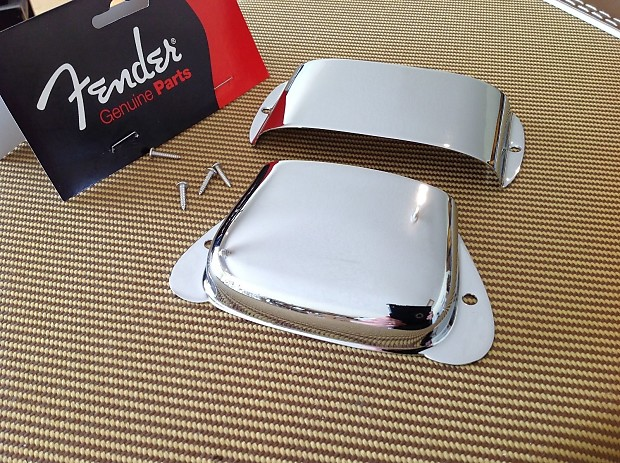 genuine fender precision bass chrome metal bridge and pickup reverb. Black Bedroom Furniture Sets. Home Design Ideas