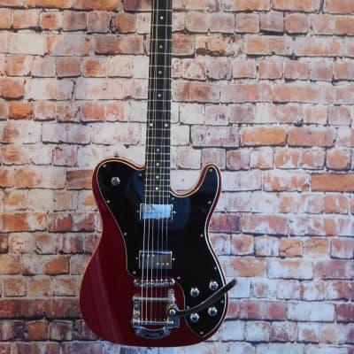 Schecter Diamond Series Schecter Guitar Research PT Fastback IIB Electric Guitar Metallic Red Black Pickguard for sale
