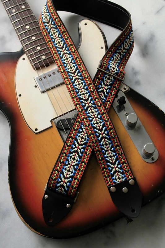 'hooty' Vintage Hippie 1970s Replica Guitar Strap sdCQrhtx