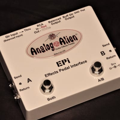Analog Alien Effects Pedal Interface White