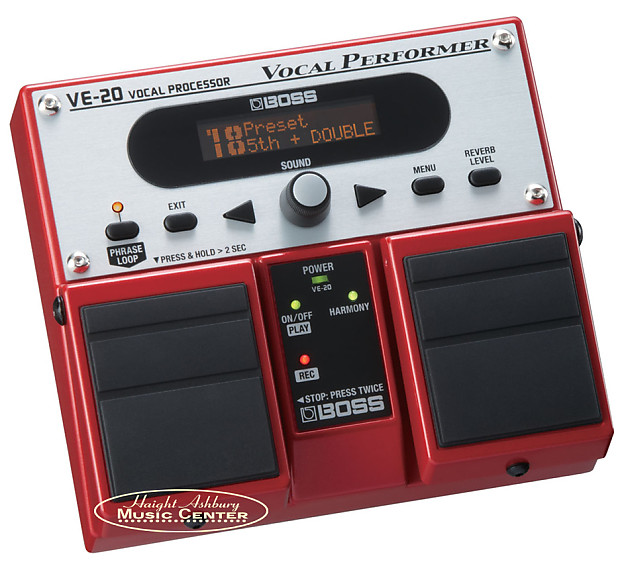 boss ve 20 vocal performer vocalists effect processor pedal reverb. Black Bedroom Furniture Sets. Home Design Ideas