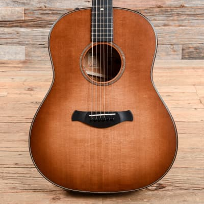 Taylor 517e Builder's Edition Torrefied Sitka/Tropical Mahogany Grand Pacific Wild Honey Burst ES2 (Serial #1103269091) USED