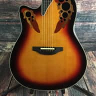 <p>Ovation Left Handed L778AX Elite  Acoustic Electric Guitar - New England Burst with hard shell case</p>  for sale
