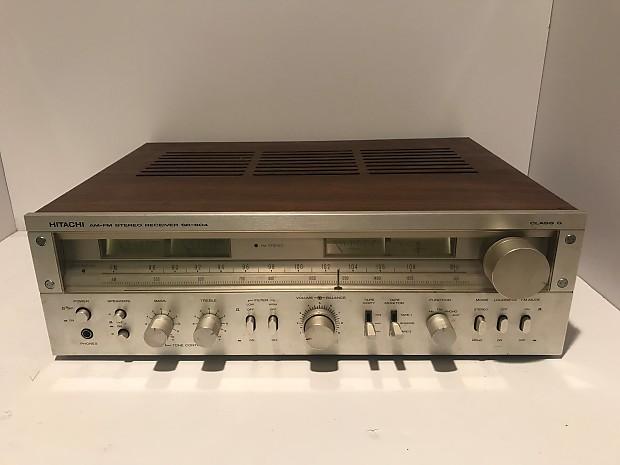 Hitachi Sr 804 1978 Silver Face Vintage Am Fm Stereo