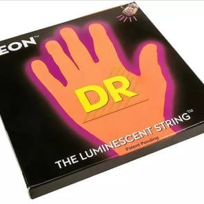 DR Neon Phosphorescent Orange HiDef Medium Bass Strings