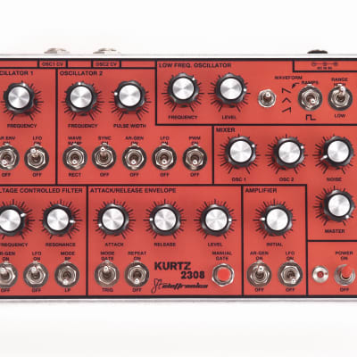 MFOS Soundlab Kurtz 2308 Analog Synth FTelettronica 2019 Red/Aluminum