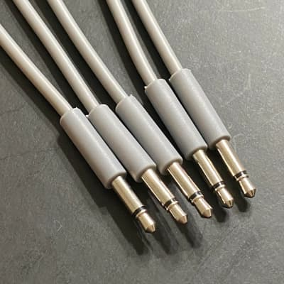 Eurorack Patch Cable 24 inch (5pcs) Gray