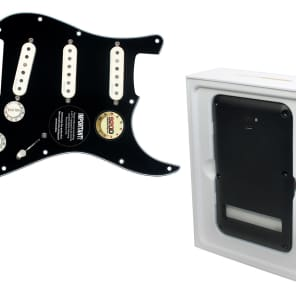 Pre Wired Fishman Fluence Loaded Pickguard for Fender Strat Stratocaster BK/PA with Battery Pack