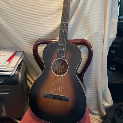 Oahu square neck acoustic guitar. project guitar 1950's sunburst for sale