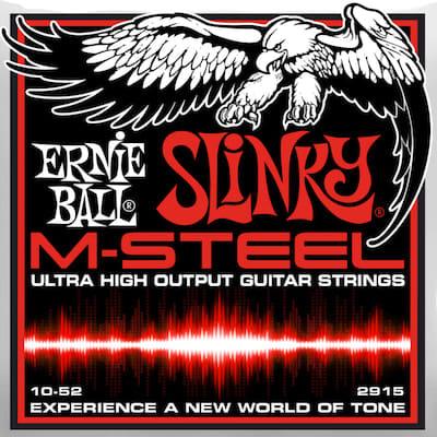 Ernie ball M-Steel Guitar Stings Skinny Top Slinky 10-52 for sale