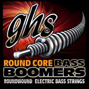GHS Round Core Bass Boomers Universal Long Scale Medium Electric Bass Strings 45-105