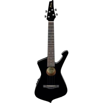 Ibanez UICT10 Iceman Black electro/acoustic tenor ukulele for sale