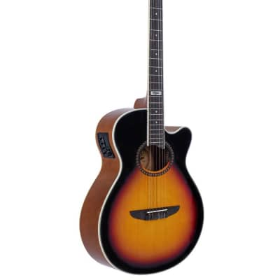 TAGIMA VEGAS-T-DS EQ NYLON ACOUSTIC-ELECTRIC CUTAWAY GUITAR DROP SUNBURST SATIN for sale