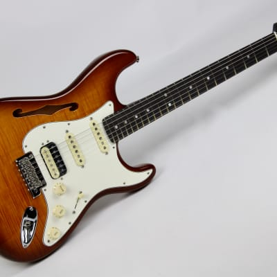 Fender Rarities Strat Thinline HSS Solid Rosewood Neck 2019 Violin Burst W/OHSC