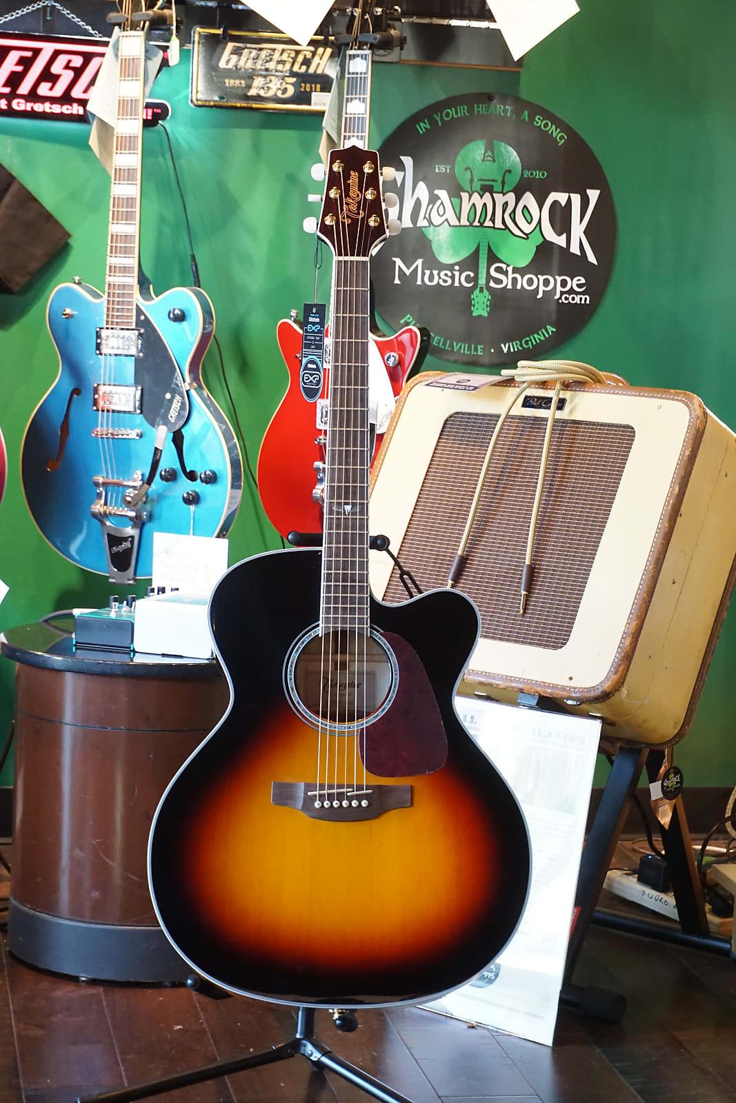 New 2019 Takamine GJ72CE-BSB 2019 Sunburst Jumbo Acoustic Electric Guitar