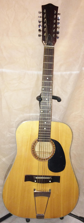 vintage unbranded 12 string acoustic guitar reverb. Black Bedroom Furniture Sets. Home Design Ideas