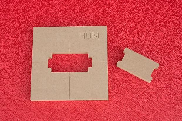 PAF Humbucker Pickup Guitar Router Template - CNC 1/2\