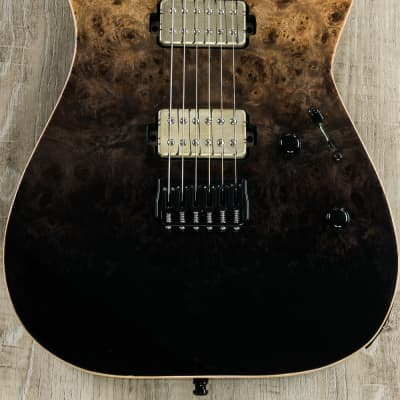 ESP E-II M-II NT Guitar, Black Natural Fade, Buckeye Burl Maple Top, Bare Knuckle Pickups