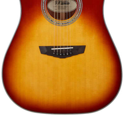 D'Angelico Premier Bowery Dreadnought Electro Acoustic in Iced Tea Burst for sale