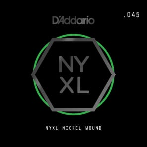 D'Addario NYXL Nickel Wound Electric Guitar Single String .045