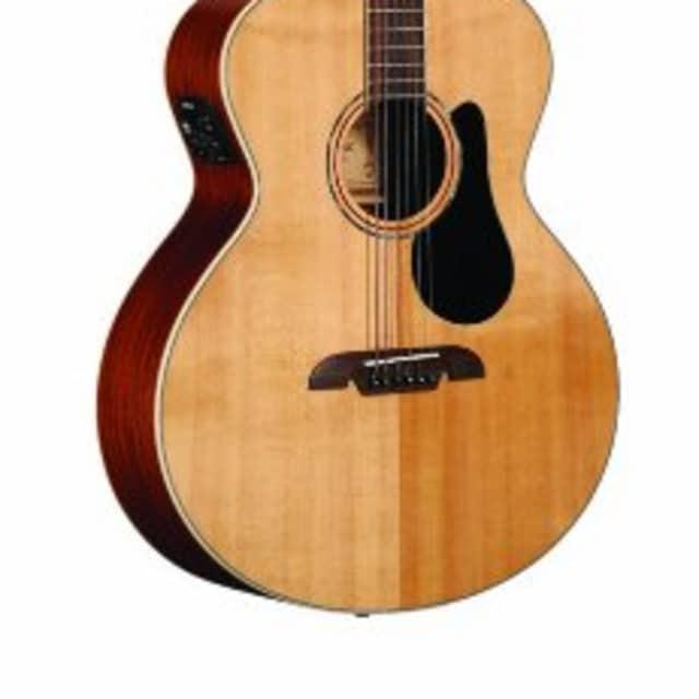 Alvarez ABT60E Artist Series Baritone Acosutic Electric Guitar Natural image