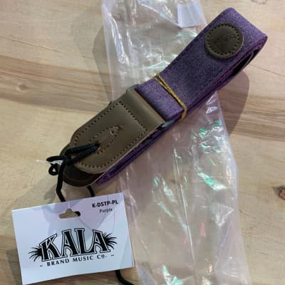 Kala Deluxe cloth ukulele strap Purple