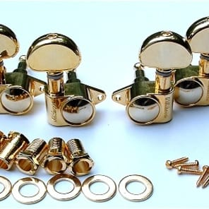Guitar Parts WILKINSON ROTOMATIC Roto - 3 Per Side 3x3 - TUNERS SET - Gold