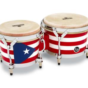 Latin Percussion M201-PR Matador Series Puerto Rican Heritage Wood Bongos