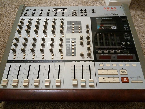 Akai Professional MG614 (6 Channel Mixer - 4 Track Recorder) + Microphone!