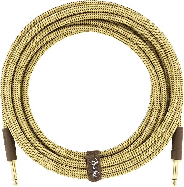 Fender Professional Series Instrument Cable,Straight-Straight,18.6ft Black