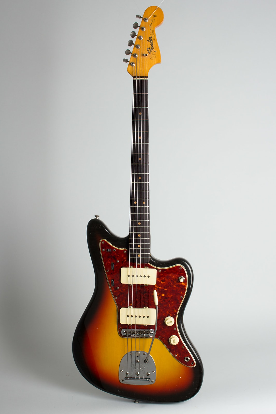Fender  Jazzmaster Solid Body Electric Guitar (1965), ser. #L-70616, black tolex hard shell case.