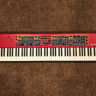 Nord Stage 2 EX 88 2015 Red w/ SKB ATA 88 Hard Case