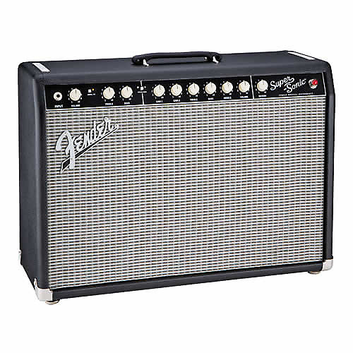 fender super sonic 22 combo tube guitar amp 22w black reverb. Black Bedroom Furniture Sets. Home Design Ideas