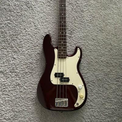Fender Standard Precision Bass 2000 MIM Midnight Wine 4-String Bass Guitar