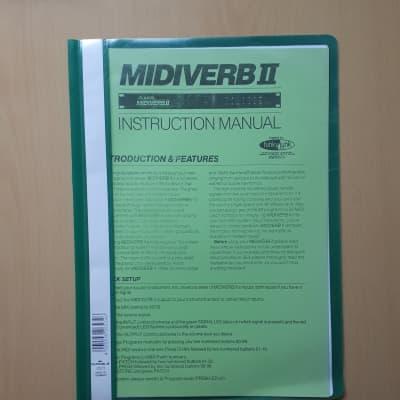 Alesis Midiverb 2 Instruction Manual and Laminated Quick Set Up Guide