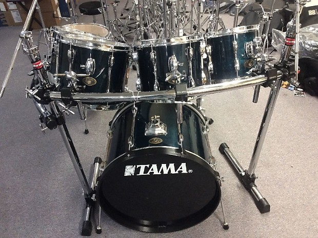 Used Tama Rockstar Custom 7 Piece Rack Mount Drum Set W Hardware