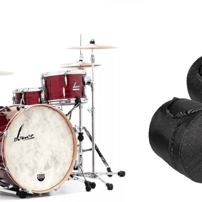 Sonor Vintage Series Red Oyster 22x14_13x8_16x14 Shell Pack Drums +FREE 8pc Hardware & Bags LIMITED