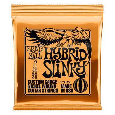 Ernie Ball 2222 Hybrid Slinky Nickel Wound Electric Guitar Strings - .009-.046 for sale