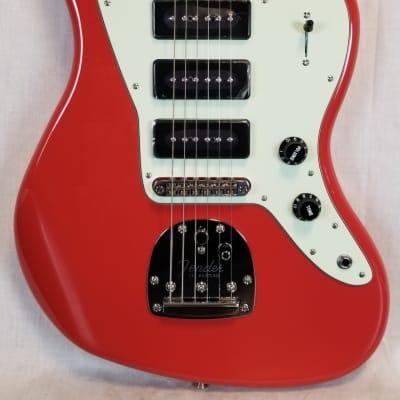 Fender Noventa Jazzmaster Electric Guitar, Maple Fingerboard, Fiesta Red W/Deluxe Gig Bag for sale