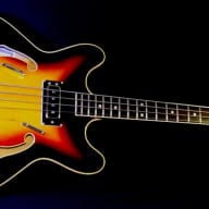 <p>HARPTONE 2000-6F 1968 3 Tone Sunburst Bass Guitar. EXTREMELY RARE.  Beats Gibsons Eb-2 &amp; Rivoli</p>  for sale